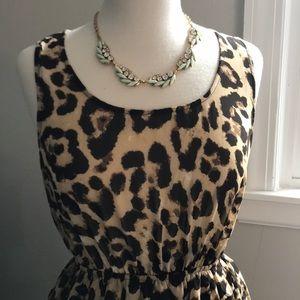 Leopard print high/low dress